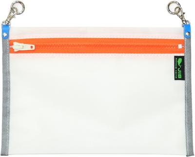JIB オプションフラットポケットM OP-FPCT22 ホワイト×オレンジファスナー(グレー縁)