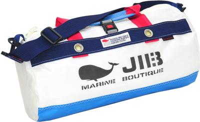 JIB ダッフルバッグSボーダー DSB160 ロケットブルー×ネイビー