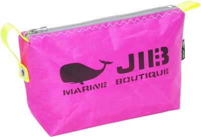 JIB ポーチ PO36 ピンク×グレーファスナー/蛍光イエロー耳