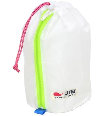 JIB プレスバッグS SC-PBS26 ホワイト×蛍光グリーンファスナー