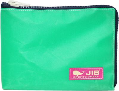 JIB マイクロクラッチラージM MCM28 エメラルドグリーン×ダークネイビー/ピンクタグ