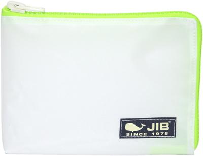 JIB マイクロクラッチラージM MCM28 ホワイト×蛍光グリーン/ダークネイビータグ