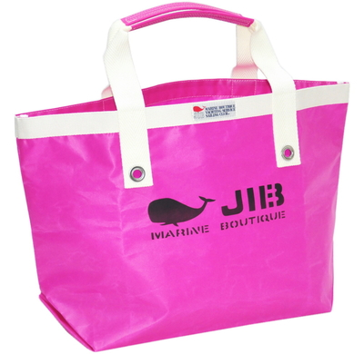 JIB オープントートM(ファスナー無しタイプ)TM73 ピンク×ホワイトハンドル