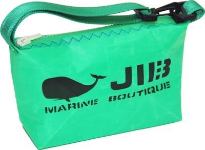 JIB ハンドルポーチS HPOS26 エメラルドグリーン×ブルーステッチ