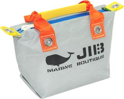 JIB ファスナートートSS(オーバーファスナー)FTSS53 グレー×オレンジハンドル×ブルーファスナー