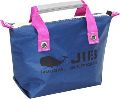 JIB ファスナートートS(オーバーファスナー)FTS68 ネイビー×ピンク