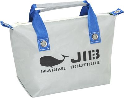 JIB ファスナートートS(オーバーファスナー)FTS68 グレー×ダークブルー