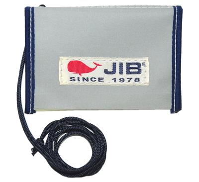 JIB パスケース PS28 グレー×ネイビー/ホワイトタグ