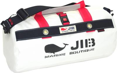 JIB ダッフルバッグSボーダー DSB160 ヨッティングカラー(ホワイト×ダークネイビー)
