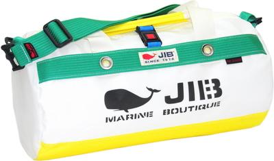 JIB ダッフルバッグSボーダー DSB160 イエロー×グリーン