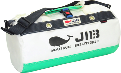 JIB ダッフルバッグSボーダー DSB160 エメラルドグリーン×チャコールグレー