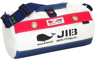JIB ダッフルバッグSSボーダー DSSB146 ネイビー×レッド