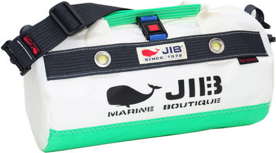 JIB ダッフルバッグSSボーダー DSSB146 エメラルドグリーン×チャコールグレー