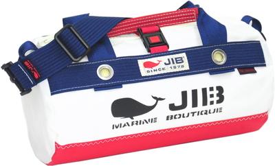 JIB ダッフルバッグSSボーダー DSSB146 レッド×ネイビー