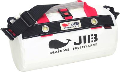JIB ダッフルバッグSSボーダー DSSB146 ホワイト×ダークネイビー
