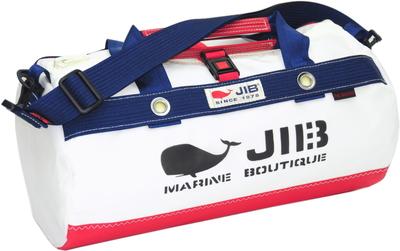 JIB ダッフルバッグSボーダー DSB160 レッド×ネイビー