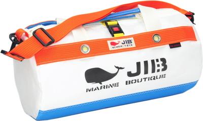 JIB ダッフルバッグSボーダー DSB160 ロケットブルー×オレンジ