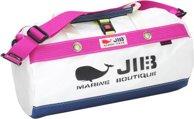 JIB ダッフルバッグSボーダー DSB160 ネイビー×ピンク