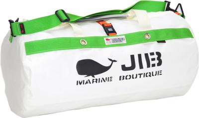JIB ダッフルバッグMボーダー DMB190 ホワイト×グリーン
