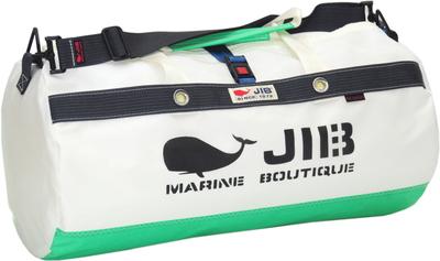 JIB ダッフルバッグMボーダー DMB190 エメラルドグリーン×チャコールグレー