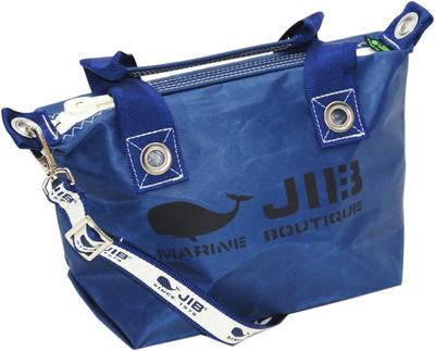 JIB セット販売 FTSS53+SB25MG28 ファスナートートSSネイビー+25mm幅ロゴショルダーベルト