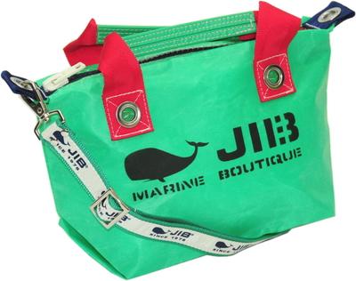 JIB セット販売 FTSS53+SB25MG28 ファスナートートSSエメラルドグリーン×レッド+25mm幅ロゴショルダーベルト