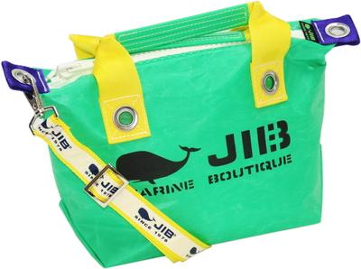 JIB セット販売 FTSS53+SB25MG28 ファスナートートSSエメラルドグリーン×イエロー+25mm幅ロゴショルダーベルト