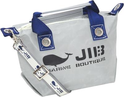 JIB セット販売 FTSS53+SB25MG28 ファスナートートSSグレー×ネイビー+25mm幅ロゴショルダーベルト