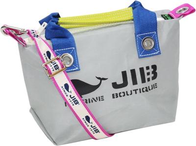 JIB セット販売 FTSS53+SB25MG28 ファスナートートSSグレー×ダークブルー+25mm幅ロゴショルダーベルト