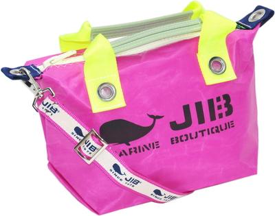 JIB セット販売 FTSS53+SB25MG28 ファスナートートSSピンク×蛍光イエロー+25mm幅ロゴショルダーベルト