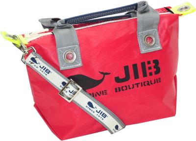 JIB セット販売 FTSS53+SB25MG28 ファスナートートSSレッド×グレー+25mm幅ロゴショルダーベルト