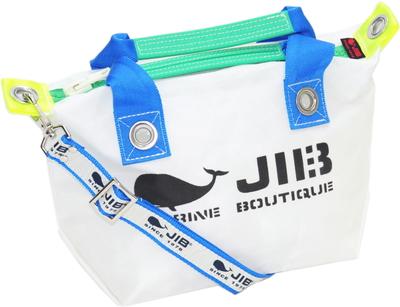 JIB セット販売 FTSS53+SB25MG28 ファスナートートSSホワイト×ロケットブルー+25mm幅ロゴショルダーベルト