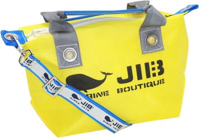 JIB セット販売 FTSS53+SB25MG28 ファスナートートSSイエロー×グレー+25mm幅ロゴショルダーベルト