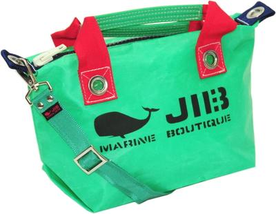JIB セット販売 FTSS53+SB25MM20 ファスナートートSSエメラルドグリーン×レッド+25mm幅無地ショルダーベルト