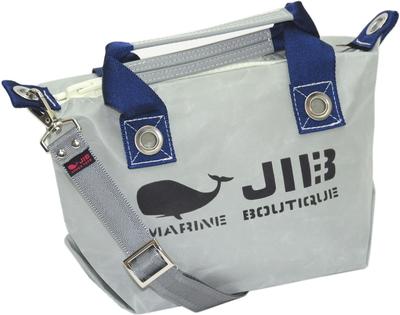 JIB セット販売 FTSS53+SB25MM20 ファスナートートSSグレー×ネイビー+25mm幅無地ショルダーベルト