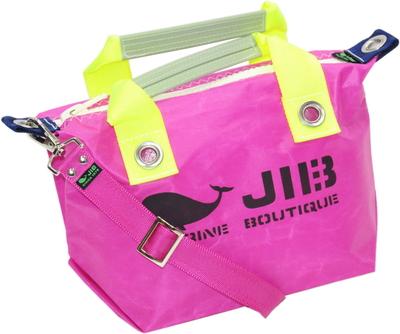 JIB セット販売 FTSS53+SB25MM20 ファスナートートSSピンク×蛍光イエロー+25mm幅無地ショルダーベルト