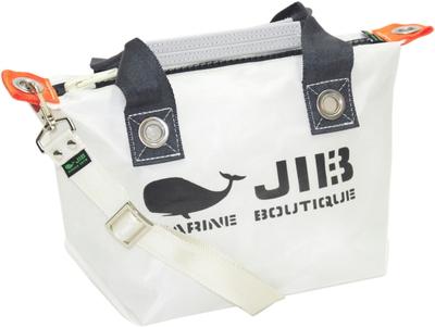JIB セット販売 FTSS53+SB25MM20 ファスナートートSSホワイト×チャコールグレー+25mm幅無地ショルダーベルト