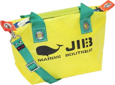 JIB セット販売 FTSS53+SB25MM20 ファスナートートSSイエロー×グリーン+25mm幅無地ショルダーベルト