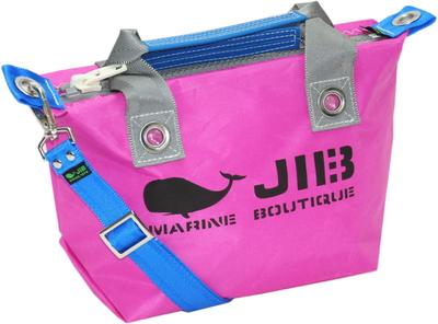 JIB セット販売 FTSS53+SB25MM20 ファスナートートSSピンク×グレー+25mm幅無地ショルダーベルト