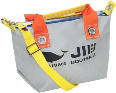 JIB セット販売 FTSS53+SB25MM20 ファスナートートSSグレー×オレンジ+25mm幅無地ショルダーベルト