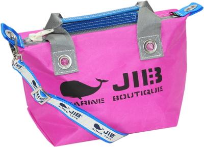 JIB セット販売 FTSS53+SB25MG28 ファスナートートSSピンク×グレー+25mm幅ロゴショルダーベルト
