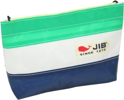 JIB バリットポシェットL BPL30 ネイビー×エメラルドグリーン