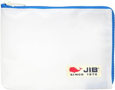 JIB マイクロクラッチラージM MCM28 ホワイト×ブルー/白タグ