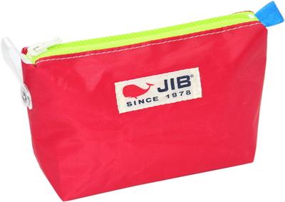JIB フィンガーポーチ FPO22 レッド×蛍光グリーンファスナー/ブルーみみ