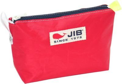 JIB フィンガーポーチ FPO22 レッド×ネイビーファスナー/蛍光イエローみみ