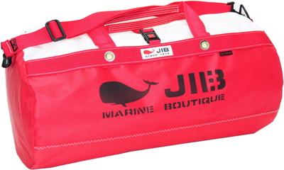 JIB ダッフルバッグMボーダー DMB190 モノカラー・レッド(刺繍タグ)