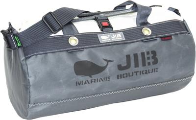 JIB ダッフルバッグSボーダー DSB160 チャコールグレー