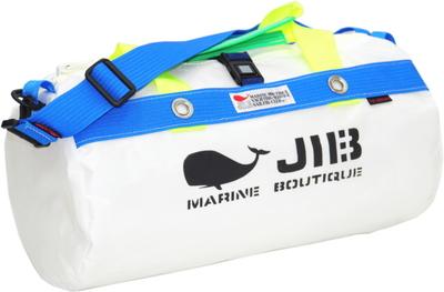 JIB ダッフルバッグS DS130 ホワイト×ブルー