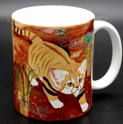 保全の森 陶器製マグカップ スナネコイラスト