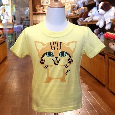 なりきりTシャツ スナネコ 子供サイズ90~120 【Original】ライトイエロー
